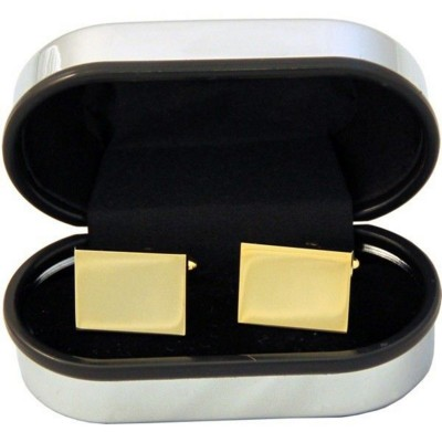 Picture of RECTANGULAR CUFF LINKS in Gold Finish
