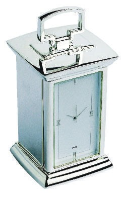Picture of REGENT EXECUTIVE DESK CARRIAGE CLOCK NICKEL PLATED FINISH