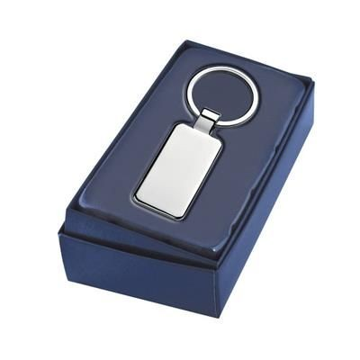 Picture of RECTANGULAR KEYRING 45MM X 25MM with Loop Fitting