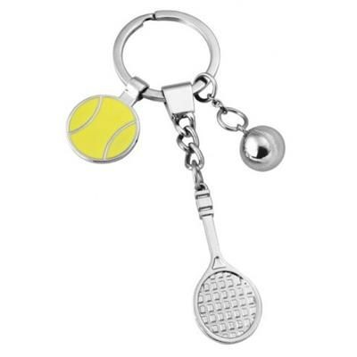 Picture of TENNIS RACKET AND BALL KEYRING BRANDED BUSINESS CORPORATE GIFT
