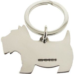 Picture of HALLMARKED 925 STERLING SILVER DOG KEYRING