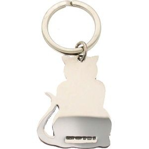 Picture of HALLMARKED 925 STERLING SILVER CAT KEYRING