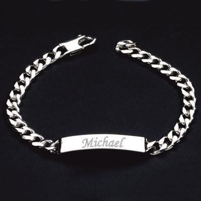 Picture of HALLMARKED 925 STERLING SILVER ID BRACELET