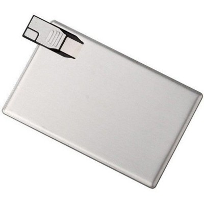 Picture of SLEEK & STYLISH 4GB ALUMINIUM METAL CREDIT CARD USB FLASH DRIVE MEMORY STICK in Silver