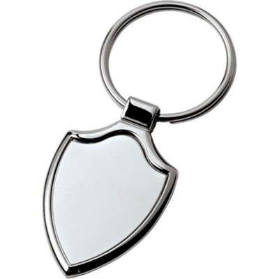 Picture of SHIELD SHAPE KEYRING in Silver Finish