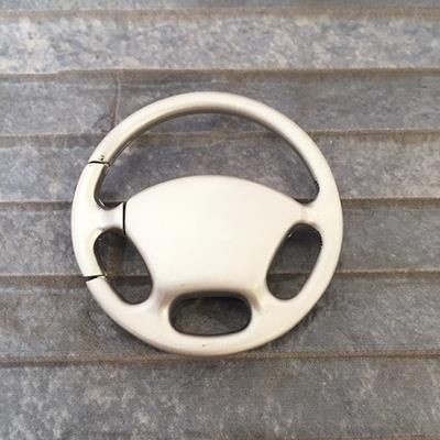 Picture of CAR STEERING WHEEL KEYRING FOB in Silver