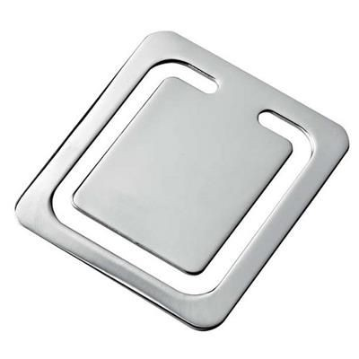 Picture of SQUARE FLAT BOOKMARK in Silver Chrome Plated Silver Finish