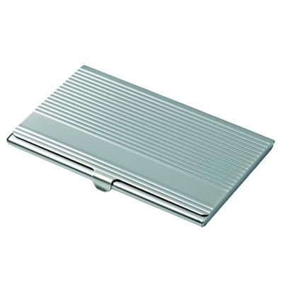 Picture of BUSINESS CARD HOLDER LINEAR in Matt Finish, Stylish Ribbed Finish Card Case