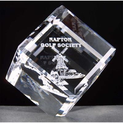 Picture of MEDIUM OPTICAL CRYSTAL BALANCING CUBE AWARD