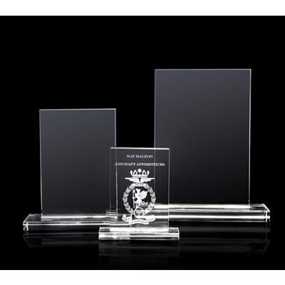 Picture of LARGE OPTICAL CRYSTAL RECTANGULAR TROPHY AWARD CUBE BLOCK
