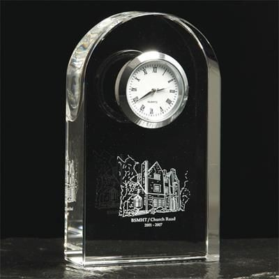 Picture of OPTICAL CRYSTAL GLASS ARCH CLOCK