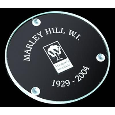 Picture of ROUND FLAT GLASS COASTER in Jade