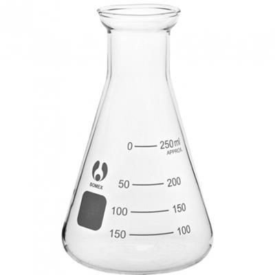 Picture of 250ML SCIENTIFIC CONICAL ERLENMEYER FLASK with Calibration Lines