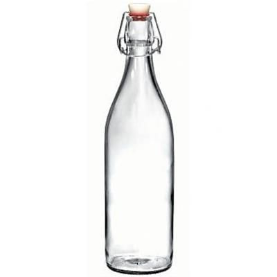 Picture of 1 LITRE RE-USABLE ROUND WATER BOTTLE with Flip Top Lid