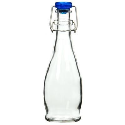 Picture of SMALL FLIP TOP GLASS BOTTLE in Blue