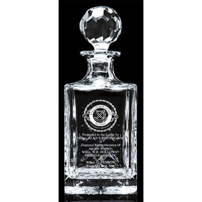 Picture of CUT SQUARE CRYSTAL DECANTER with Panel for Engraving