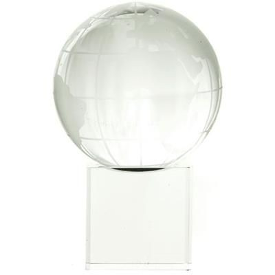 Picture of CRYSTAL 60MM GLOBE ON CLEAR TRANSPARENT CUBE