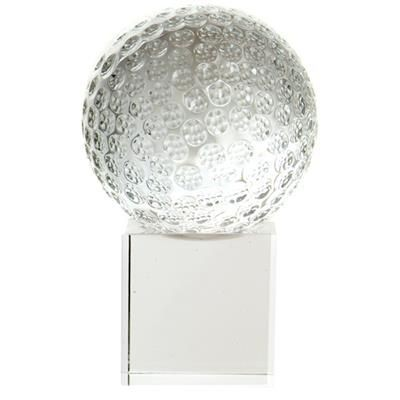 Picture of CRYSTAL 50MM GOLF BALL ON CLEAR TRANSPARENT BASE