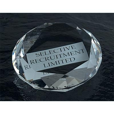 Picture of OPTICAL CRYSTAL GLASS PAPERWEIGHT