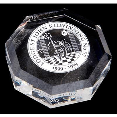 Picture of OPTICAL CRYSTAL OCTAGON PAPERWEIGHT