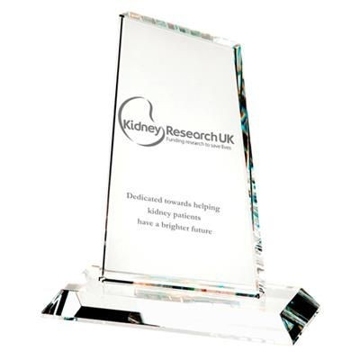 Picture of OPTICAL CRYSTAL GLASS MEDIUM PEAK TROPHY AWARD