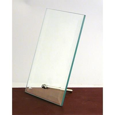 Picture of MEDIUM JADE GREEN RECTANGULAR BEVELLED FRAME with Silver Chrome Pin