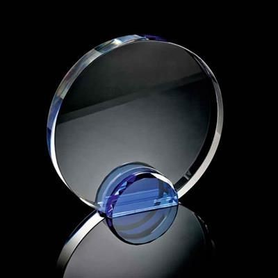 Picture of LARGE ROUND CRYSTAL FRAME with Blue Crystal Facet Stand