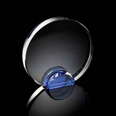 Picture of MEDIUM ROUND CRYSTAL FRAME with Blue Crystal Facet Stand