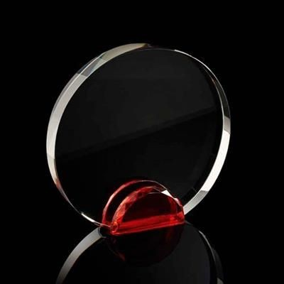 Picture of MEDIUM ROUND CRYSTAL FRAME with Red Crystal Facet Stand