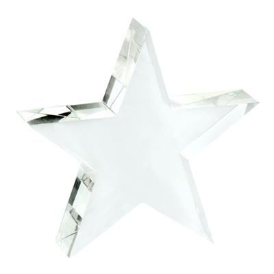 Picture of SMALL OPTICAL CRYSTAL STAR PAPERWEIGHT