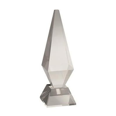 Picture of LARGE OPTICAL CRYSTAL CHUNKY DIAMOND AWARD ON BASE