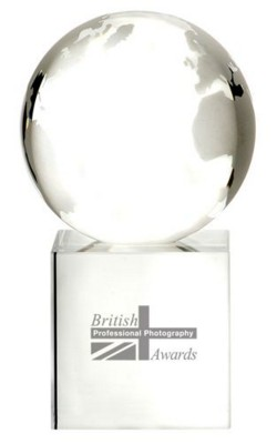 Picture of 80MM GLASS GLOBE AWARD