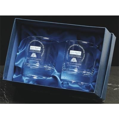 Picture of PAIR OF WHISKY TUMBLER GLASSES