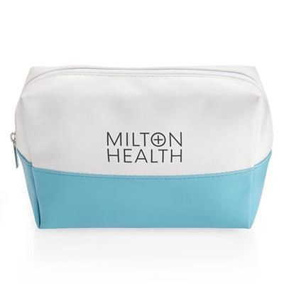 Picture of BLUE & WHITE COLOUR TOILETRY BAG