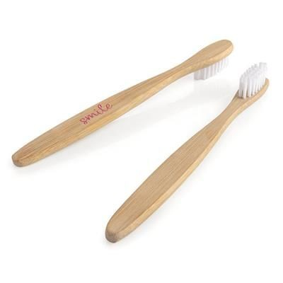Picture of BAMBOO CHILDRENS TOOTHBRUSH WHITE BRISTLES