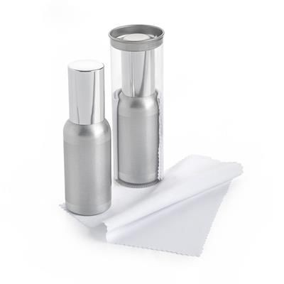 Picture of 50ML SCREEN CLEANER ALUMINIUM METAL BOTTLE & CLOTH in a Tube