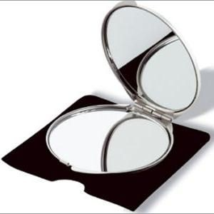 Picture of SILVER CHROME DOUBLE COMPACT MIRROR