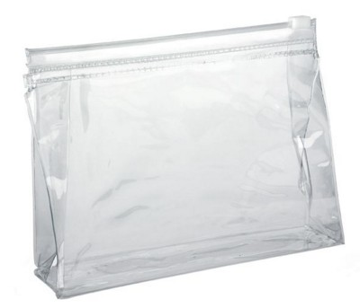 Picture of CLEAR TRANSPARENT SLIDE ZIPPER PVC TALLER BAG