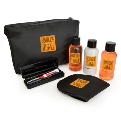 Picture of 6PC BLACK TRAVEL SET in a Black Bag