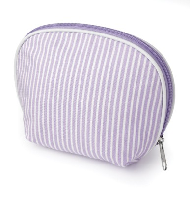 Picture of STRIPE COSMETICS CANVAS MAKE UP BAG in Lilac