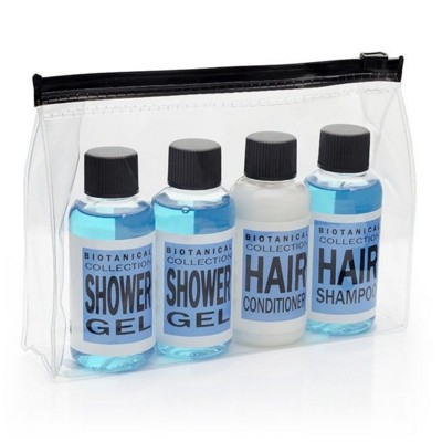 Picture of WEEKEND TRAVEL TOILETRY GIFT SET in Blue in PVC Bag