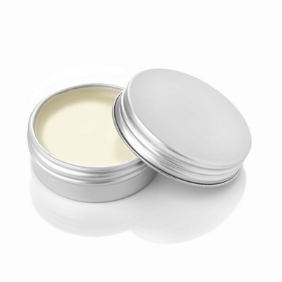 Picture of VANILLA LIP BALM in Aluminium Metal Tin in White