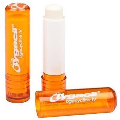 Picture of LIP BALM STICK with Domed Label in Orange