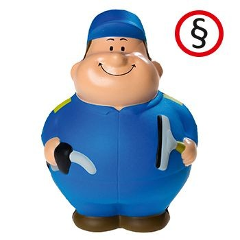 Picture of PETROL PUMP GARAGE ATTENDANT BERT SQUEEZIES STRESS ITEM