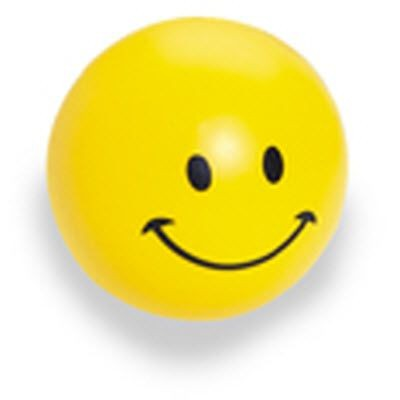 SMILE BALL SQUEEZIES STRESS ITEM in Yellow