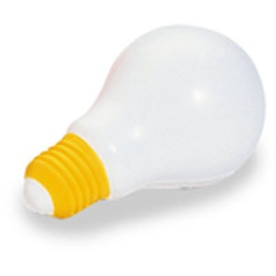 LIGHT BULB SQUEEZIES STRESS ITEM in White