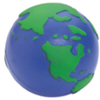 WORLD GLOBE SQUEEZIES STRESS ITEM in Blue