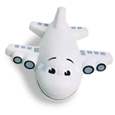 AEROPLANE SQUEEZIES STRESS ITEM in White