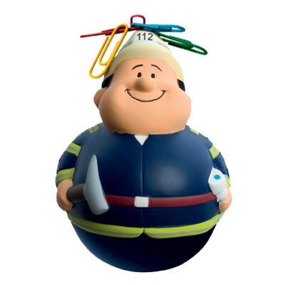 Picture of WOBBLER FIREMAN BERT SQUEEZIES STRESS ITEM