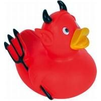 Picture of DEVIL RUBBER DUCK SMALL in Red & Black